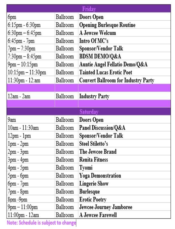Ballroom Schedule